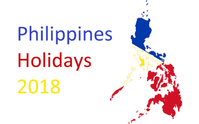 2018 Philippines Holidays (Regular Holiday and Special Non-Working Day)