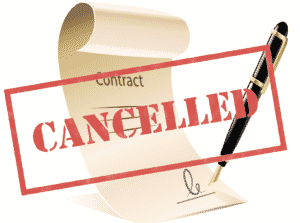 Contract showed cancelled