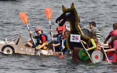 The Cardboard Regatta of La Trinité-sur-Mer 2019