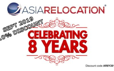 Asia Relocation – 8 Years Anniversary Discount